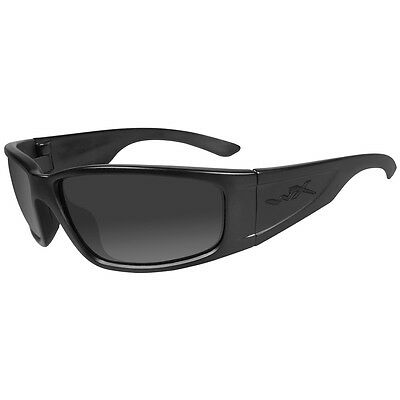 Wiley X Zak Glasses Antiscratch Case Black Ops Smoke Grey Lens Matte Black Frame