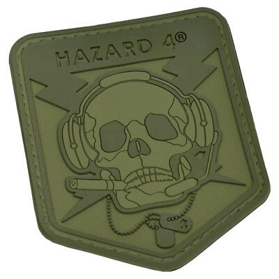 Hazard 4 Operator Skull Morale Patch Tactical Airsoft Military Od Green