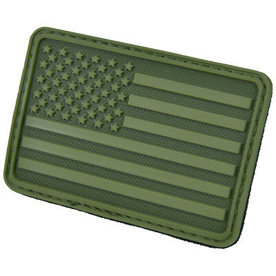 Hazard 4 Usa Flag Left Arm Morale Patch American Tactical Army Badge Olive Green