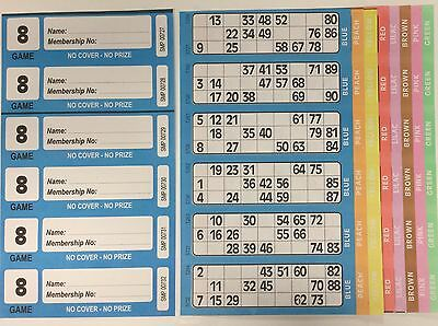 1500 8 Page Games Xl Bingo Tickets Similar To Jumbo In Size & Quality Free Item