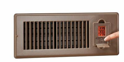 Vent-Miser 91665-BR Programmable Enery Saving Vent, 12-by-4-Inches, Brown, New,