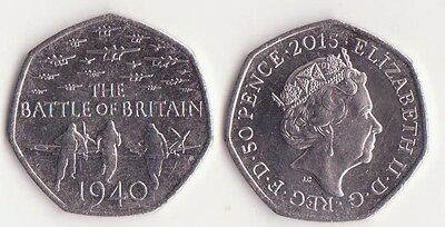 GREAT BRITAIN / 50 Pence Coin 2015 UNC-, The Battle of Britain
