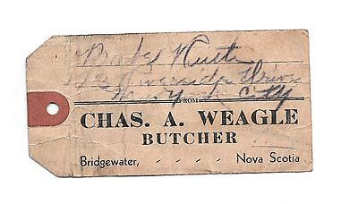 Babe Ruth signed 1940s Butcher Tag! One of a Kind! Guaranteed Authentic!