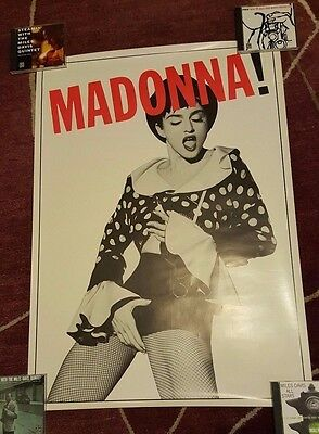 Rare Madonna Poster Immaculate Collection Rebel Heart LP CD Polka Dot England UK