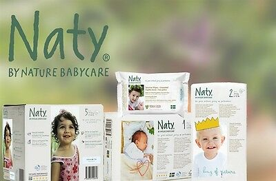 Naty By Nature Babycare Monthly Saving Pack Baby Eco Nappies Size 1 2 3 4, 4+5 6