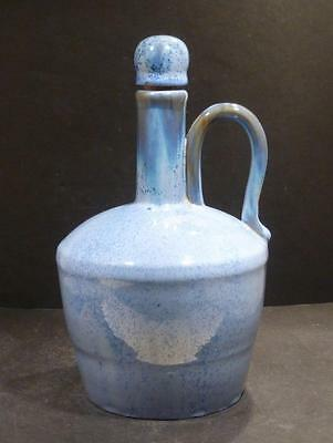 Fulper Pottery Blue Flambe Crystalline Glaze Musical Jug With Stopper
