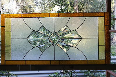 Stained Glass/Leadlight...Aussie made...Bevel Art Deco Last ones.