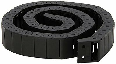 15mm x 30mm Black Plastic Semi Closed Drag Chain Cable Carrier 1M, New, Free Shi