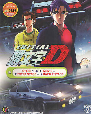 DVD Anime INITIAL D STAGE 1-6 + 2 EXTRA STAGE + 2 BATTLE STAGE + Free Gift