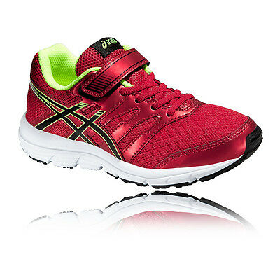 Asics Gel-Zaraca 4 PS Junior Red Cushioned Running Sports Shoes Trainers
