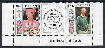 St Kitts MNH 1991 The 65th Anniversary of the Birth of Queen Elizabeth II