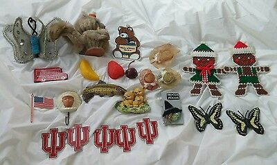 Vintage Lot of 24 Refrigerator Magnets Good Condition