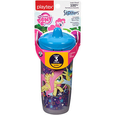 PLAYTEX - Sipsters My Little Pony Spout Sippy Cups - 9 oz. (266 ml)