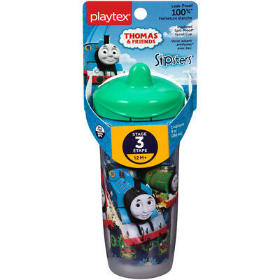 PLAYTEX - Sipsters Thomas the Train Spout Sippy Cups - 9 oz. (266 ml)