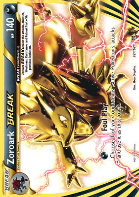 Zoroark BREAK / Zoroark TURBO - 92/162 Breakthrough - BREAK Holo EN NM Pokemon