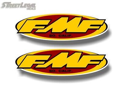"2 FMF Racing 9"" Vinyl Decals Exhaust Pipes Motocross Motorcycle ATV Quad Sticker"