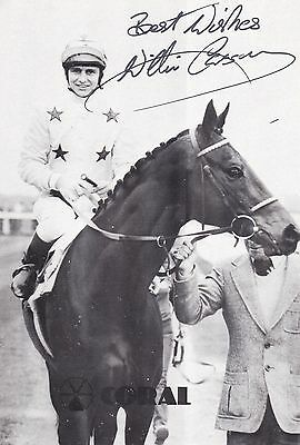 Willie Carson - Horseracing-Jockey-Derby-Ascot-Signed Photograph-Aftal/uacc Rd