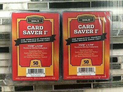 100 Ct Card Saver I Cardboard Gold PSA Graded Semi Rigid Holders UPC2217 CS 1