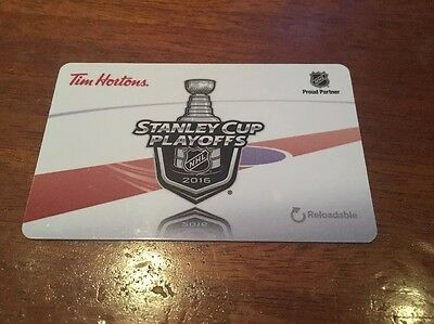 Tim Hortons Stanley Cup Playoffs 2016 Gift Card wow! mint!!