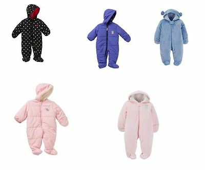 02fe28afb NWT Baby Infant Girl Boy Carters Snow Suit Winter Fleece Coverall 0-3-6