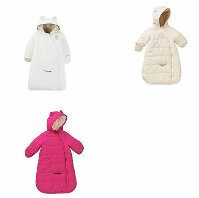 NWT Carters Baby Infant Girl Boy Winter Fleece Snowsuit Hooded Carbag Mittens