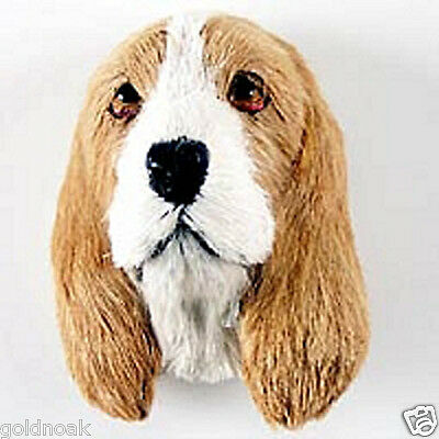 (1) BASSET HOUND DOG MAGNET! Very realistic collectible fur Magnets.