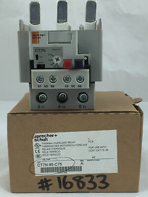 Sprecher+Schuh Thermal Overload Relay CT7N-85-C75 58-75 A 3 Pole Series A CT7N