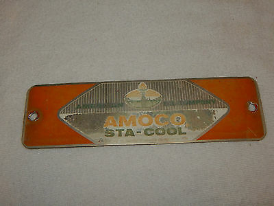 Vintage furnace Air Conditioner emblem AMERICAN OIL CO AMOCO STA-COOL steampunk