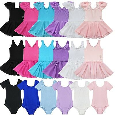 Baby Toddler Girls Ballet Leotard Dress Dancewear Gymnastics Skating Tutu Skirts
