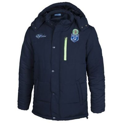 NSW Blues State of Origin 2016 NRL Mens Coaches Jacket 'Select Size' S-5XL BNWT