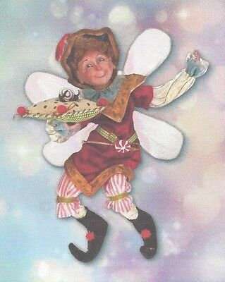 """Mark Roberts """"Peppermint Prince Fairy"""" Small 11"""" COA & Accessories New in Box"""