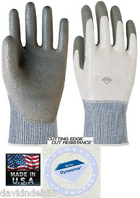 PET GROOMING ANIMAL HANDLING GLOVES DYNEEMA Knit(Like with Kevlar)Rubber Dog Cat