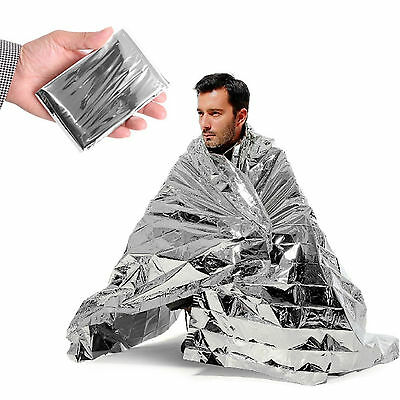 Emergency Survival Space Blanket - Thermal Waterproof Foil First Aid Rescue Tent