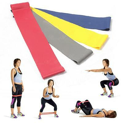 New Yoga Stretch Exercise Resistance Bands Dyna Workout Physio Aerobics GYM UK