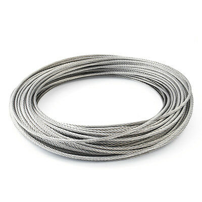 7x7 STAINLESS WIRE ROPE stranded cable weaved V4A steel metal marine sailing new