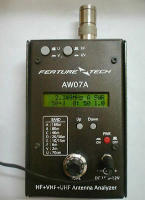 USA 160M HF/VHF/UHF Impedance SWR Antenna Analyzer AW07A f/ Ham Radio Hobbists