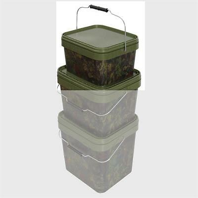 Rectangular Camo Bait Bucket - 5 Litre by Gardner