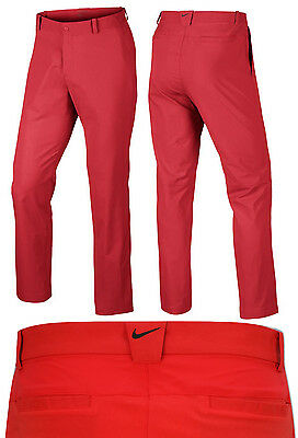 Nike Golf Dri Fit Modern Tech Pants Mens Golf Trousers - RED ALL SIZES - RRP£65