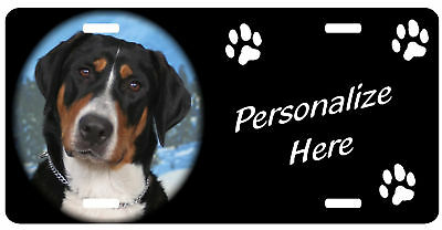 Greater Swiss Mountain Dog, 2   Personalized  License Plate