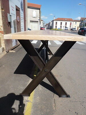 grande table haute industrielle restaurant bar pub 105 cm de haut de 3 m