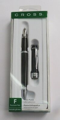 Cross AT0456S-7MS Bailey Black Lacquer Fountain Pen