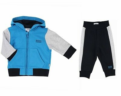Hugo Boss J08017 75K Blue Cotton Baby Tracksuit 3M - 3 Years