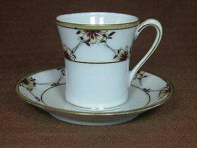 Nippon Morimura Hand Painted Demi Cup and Saucer Pre-Noritake from 1911 - 1921