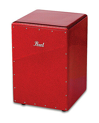 Pearl Percussion :  Boom Box Cajon, fiberglass- Red Sparkle