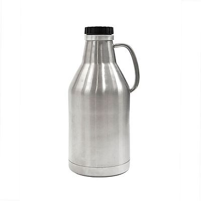 64 oz Stainless Steel Growler - Vacuum Jacket - Perfect for Beer! Ships Free