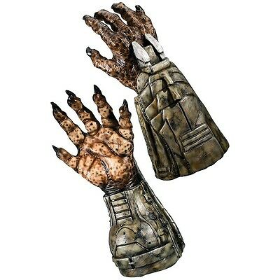 Deluxe Predator Hands Adult Men or Teen Latex Gloves Halloween Costume Accessory