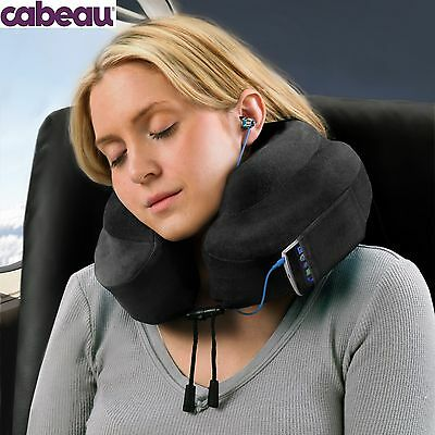 2 X New Cabeau Evolution Pillow - Memory Foam Travel Neck Pillow - Black