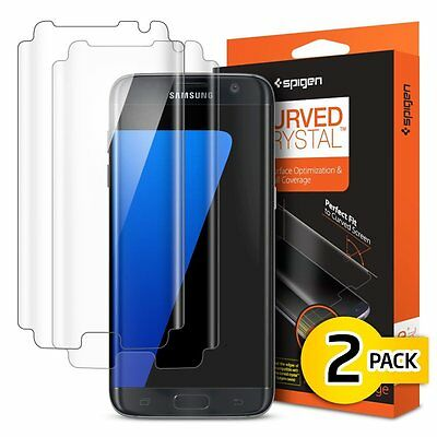 Pellicola protettiva Galaxy S7 edge, Spigen [2-Pack] Curved Crystal film [Estrem