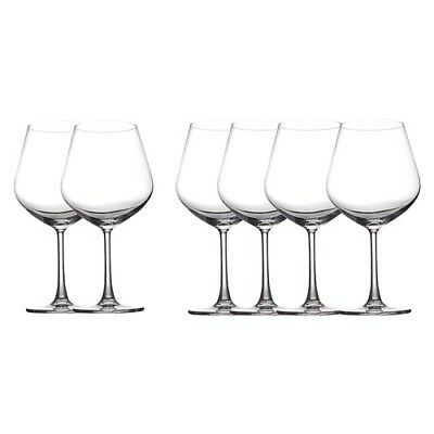 New Maxwell & Williams Set of 6 Cosmopolitan Burgundy Wine Glasses 710ml