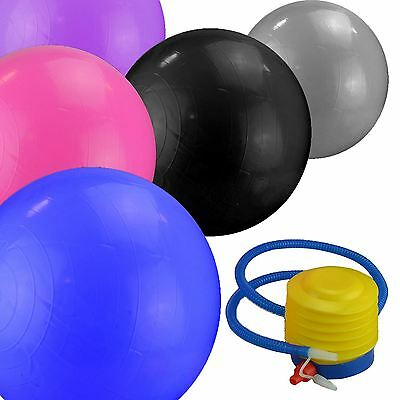 65cm Yoga Exercise Gym Swiss Ball Pregnancy Fitness Anti Burst With Foot Pump